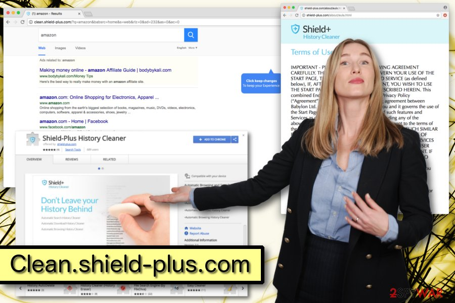 Displaying Clean.shield-plus.com