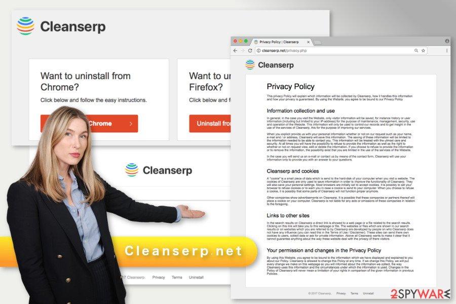 The illustration of Cleanserp.net virus