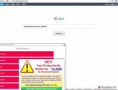 Clearsearches.com redirect issue