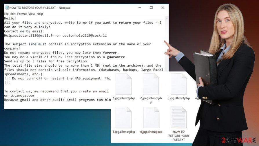 Clhmotjdxp ransomware virus