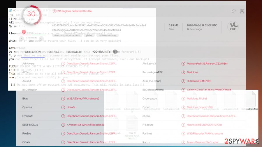Clhmotjdxp files virus