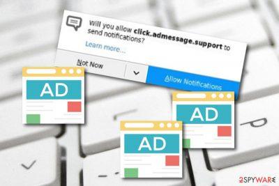 Click.admessage.support adware