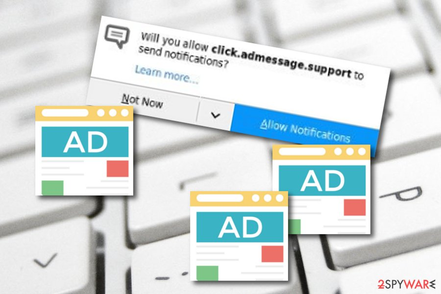 Click.admessage.support adware
