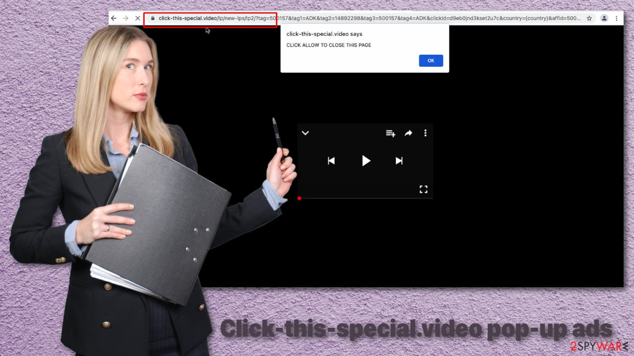Click-this-special.video pop-up ads
