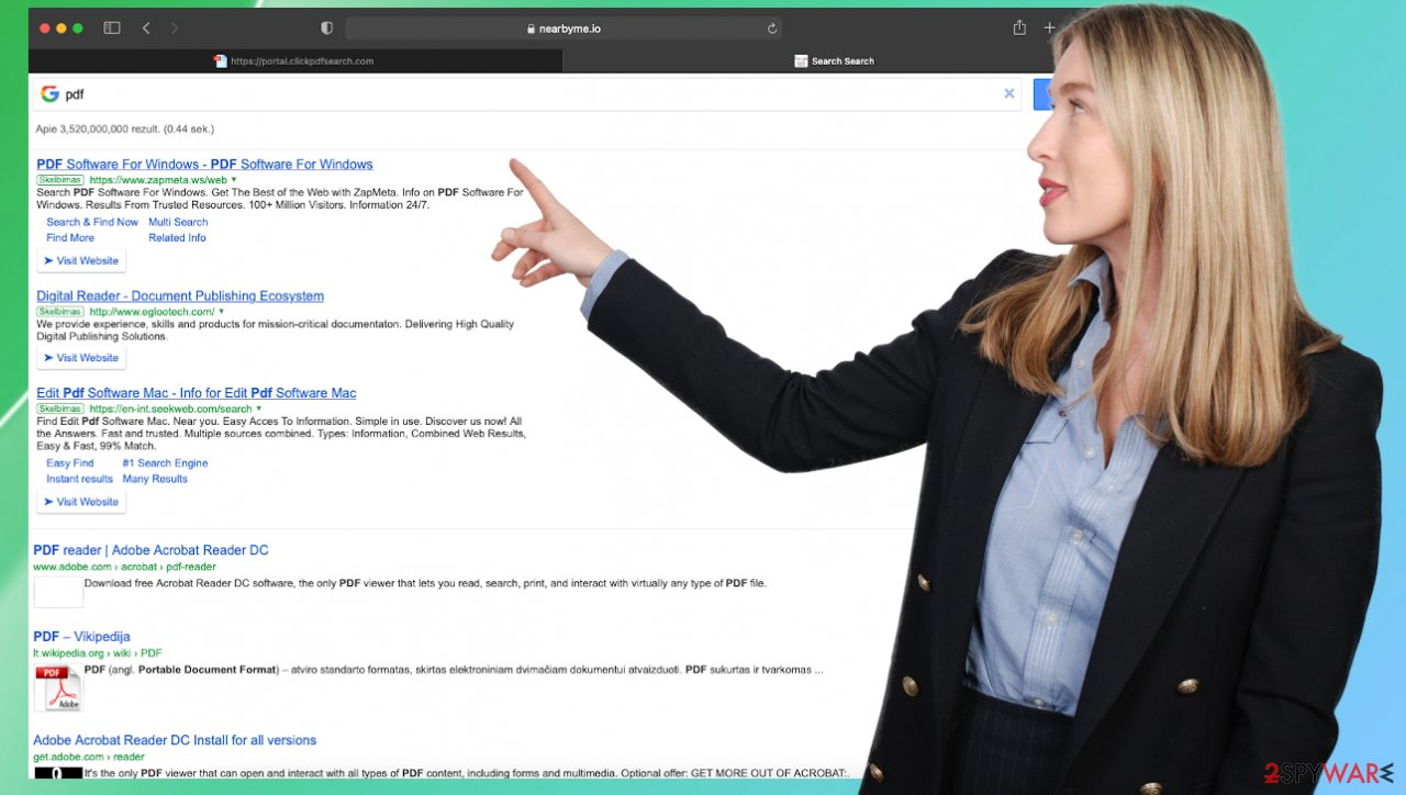 ClickPDFSearch browser hijacker