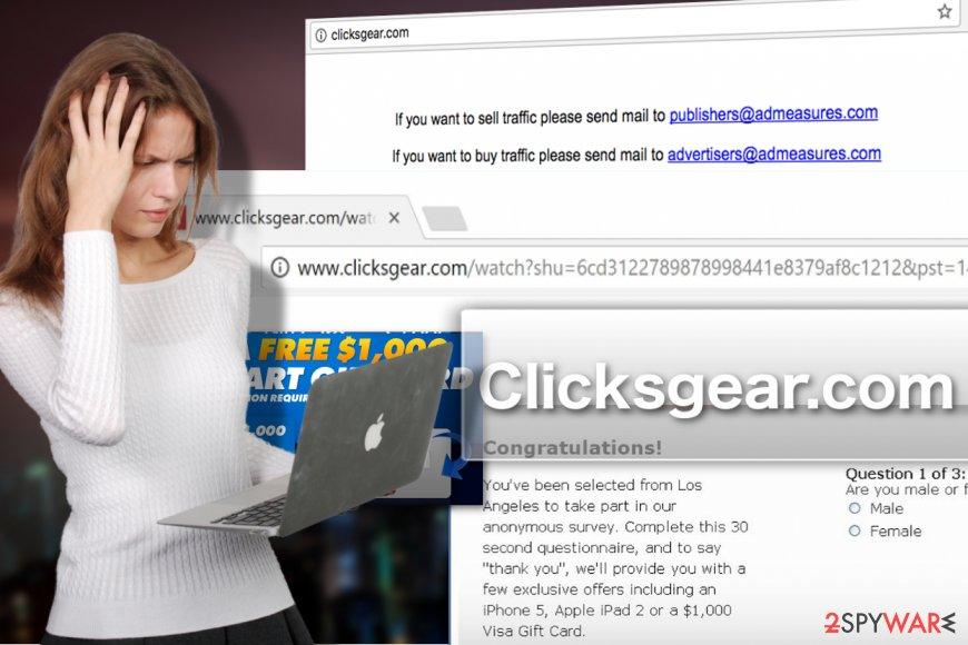 Clicksgear.com adware virus illustration
