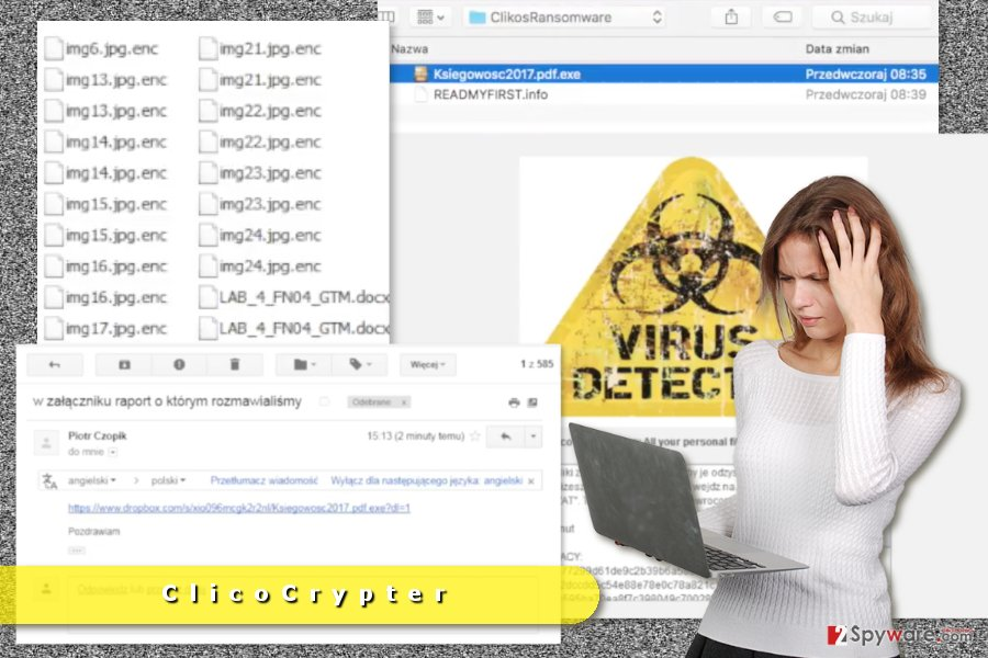 The picture of ClicoCrypter ransomware virus