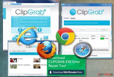 Clipgrab redirect virus