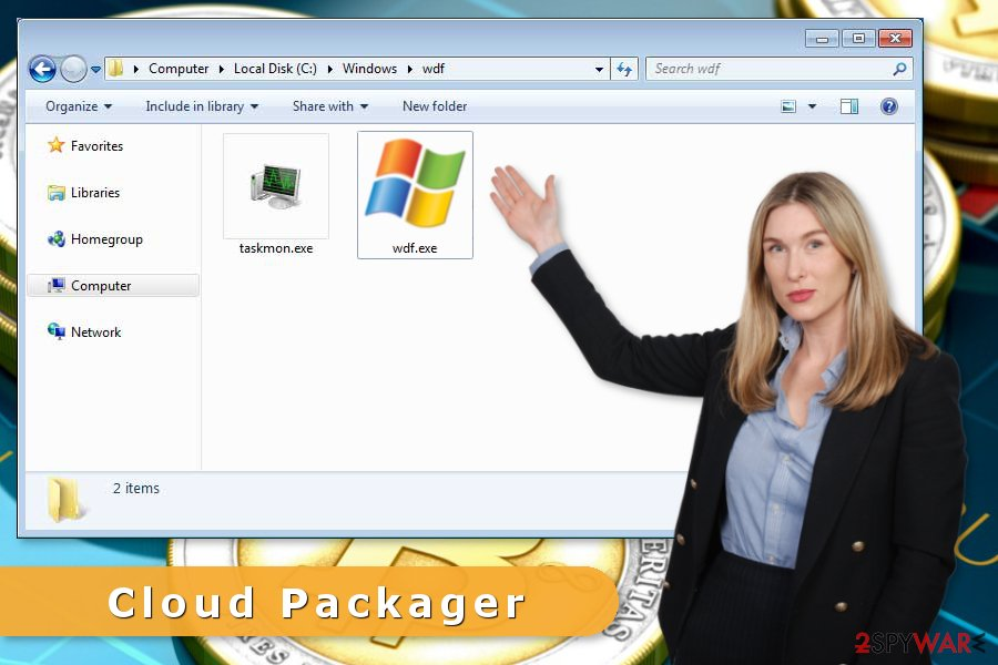 The image of Cloud Packager virus