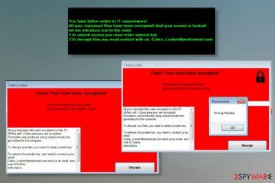 Cobra Locker ransomware
