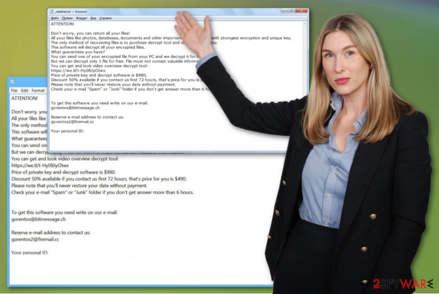 Coharos ransomware virus