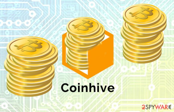 The abstract image of malicious Coinhive Miner