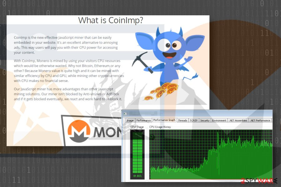 CoinImp virus uses JavaScript code to mine Monero