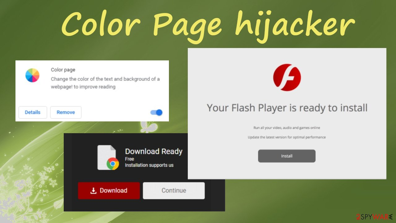 Color Page browser hijacker