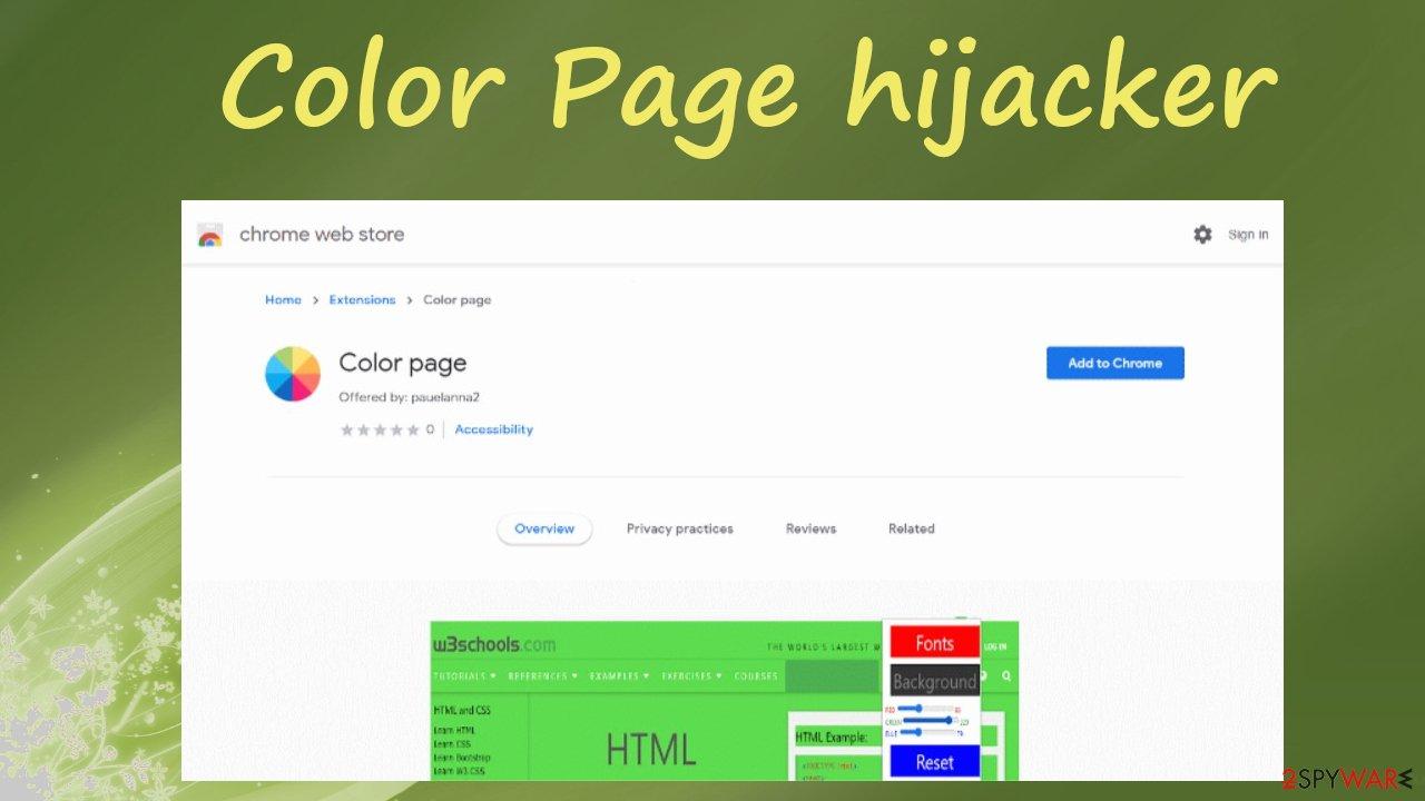 Color Page hijacker