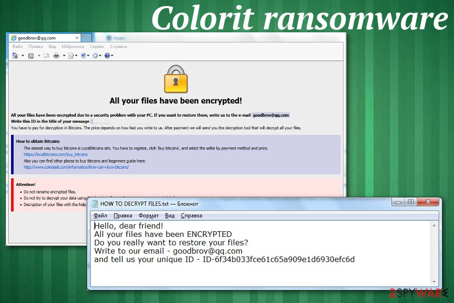 Colorit ransomware