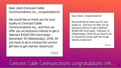 Comcast Cable Communications congratulations virus