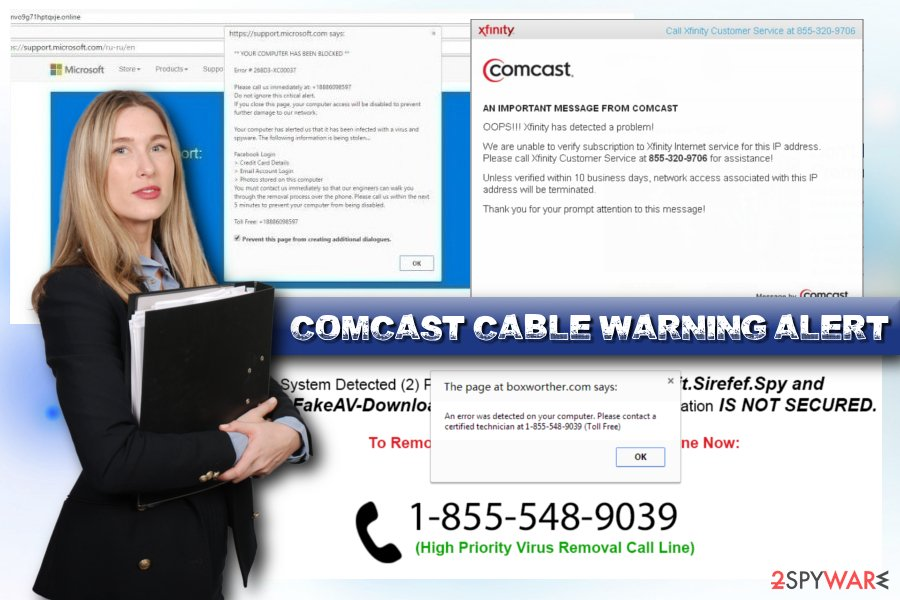 Comcast Cable Warning Alert scam