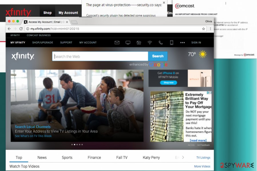 Comcast.net search engine