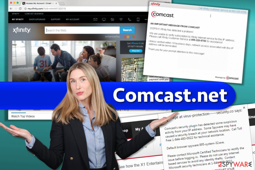 Comcast.net website and scams you should beware of