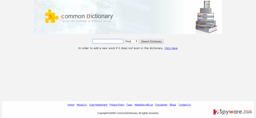 Ads by Common Dictionary snapshot