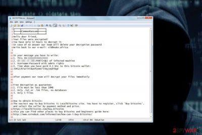 CommonRansom ransomware