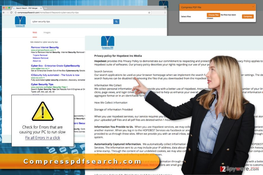 The image of Compresspdfsearch.com virus