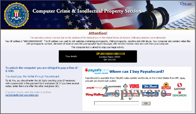 Computer Crime and Intellectual Property Section virus snapshot