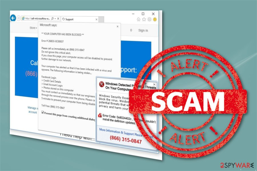 Computer Detected To Be Corrupted scam