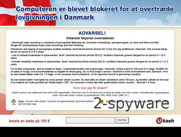 Computeren er Blevet Blokeret virus
