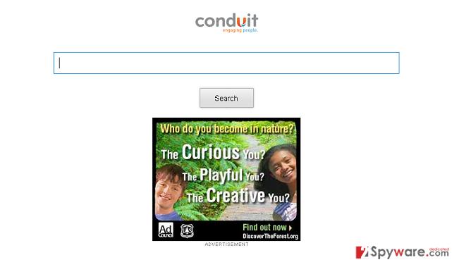 Storage.conduit.com redirect snapshot