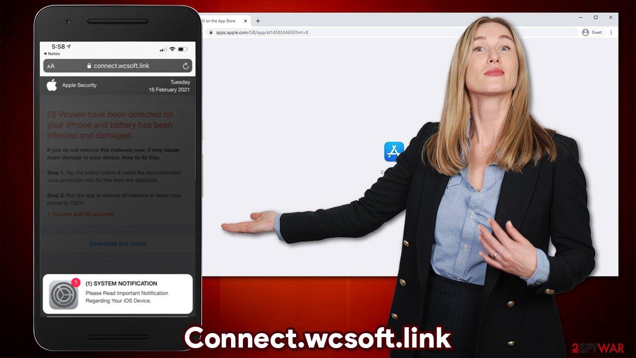Connect.wcsoft.link virus
