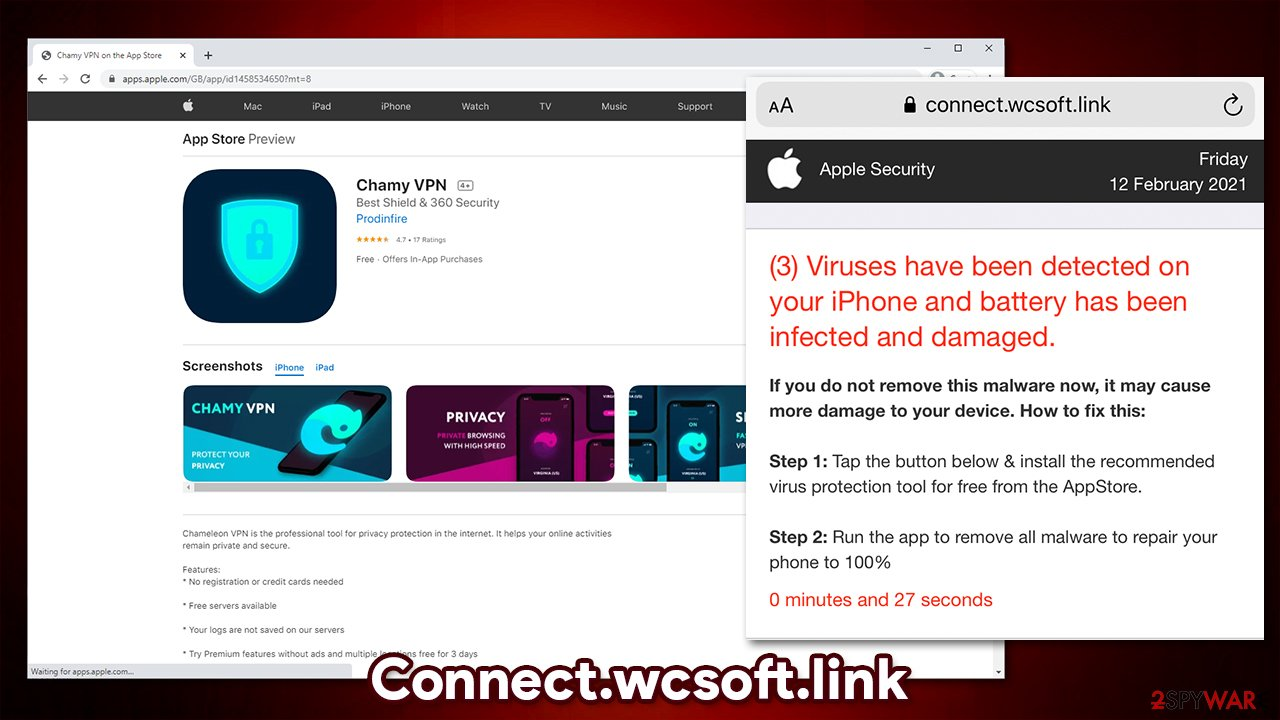 Connect.wcsoft.link redirects