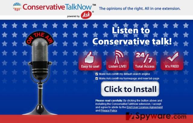 ConservativeTalkNow Toolbar