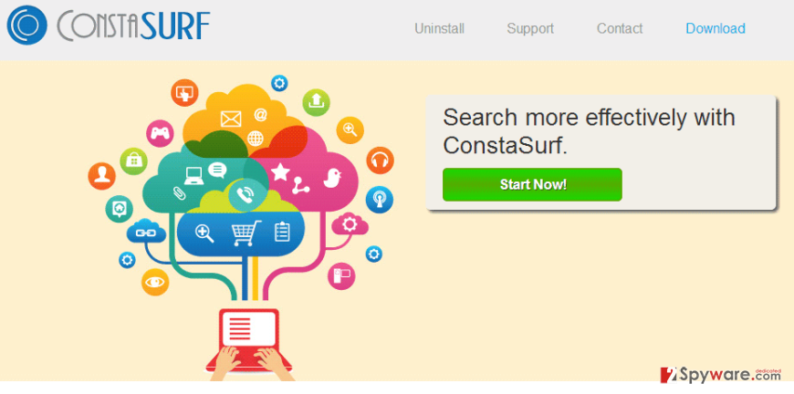 ConstaSurf Ads and ConstaSurf Deals snapshot