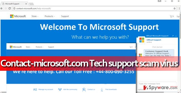 image showing ads by Contact-microsoft.com virus