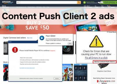 An illustration of the Content Push Client 2 ads