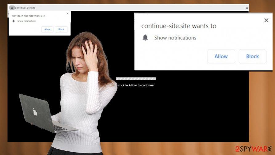 Continue-site.site virus