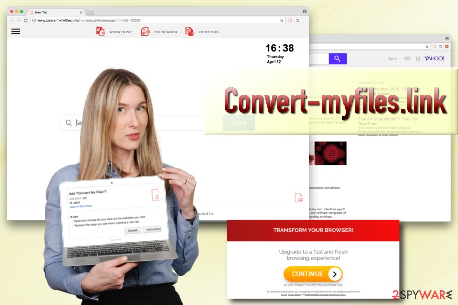 Convert-myfiles.link browser hijacker