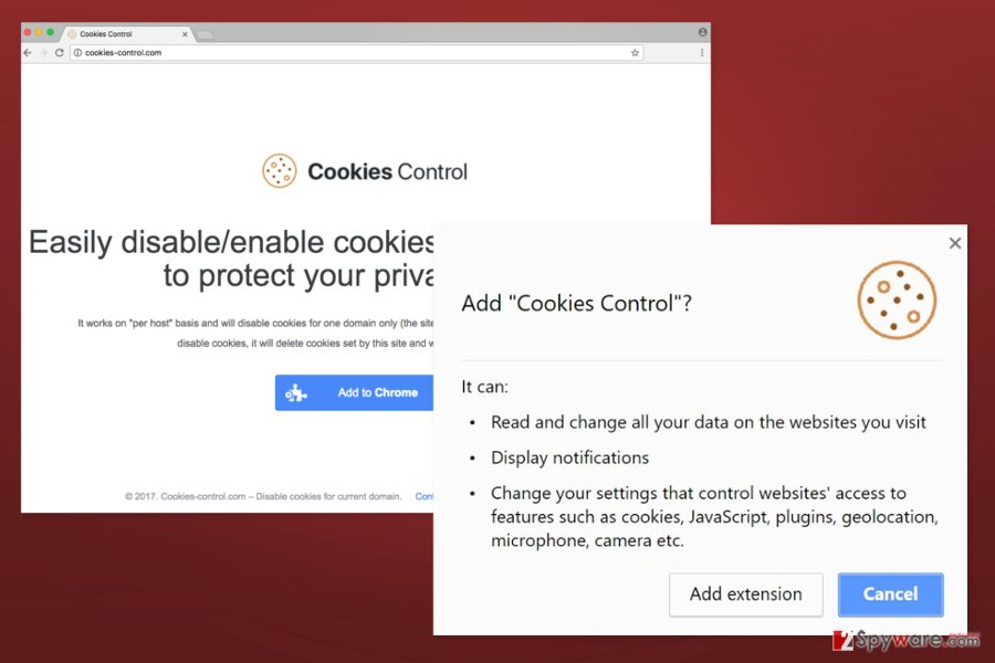 The picture of Cookies Control