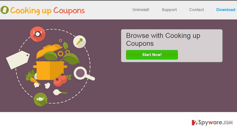Cooking up Coupons adware