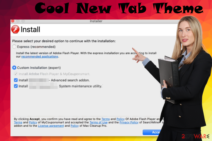 Cool New Tab Theme malware