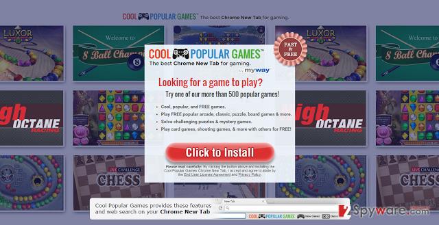 CoolPopularGames toolbar