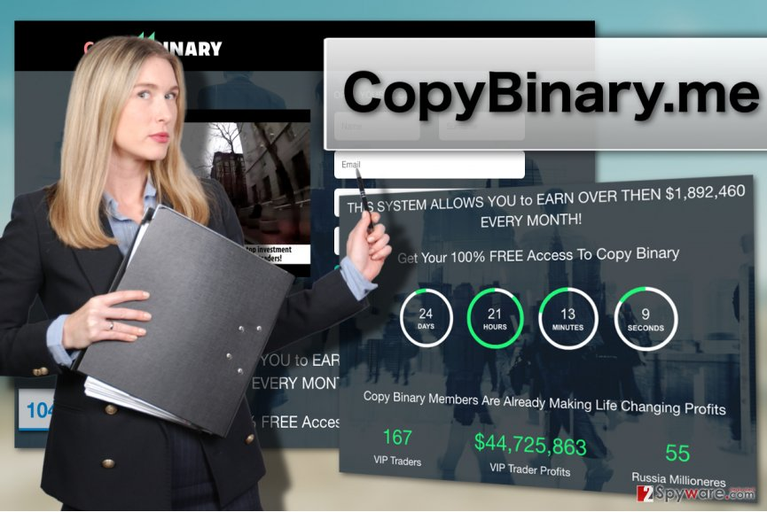 CopyBinary.me virus illustration