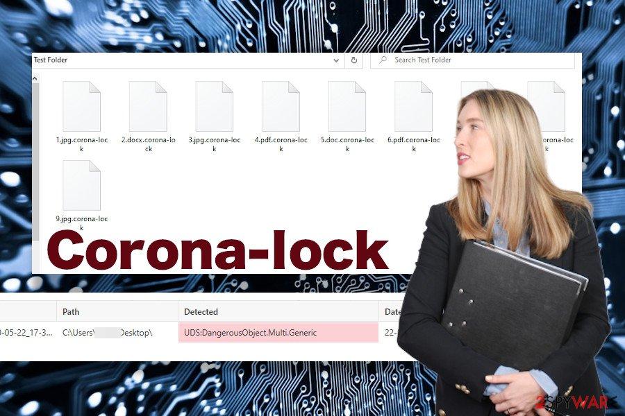 Corona-lock ransomware virus