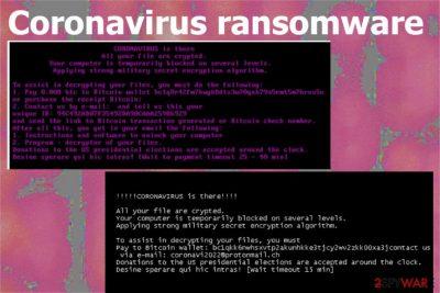 Coronavirus ransomware