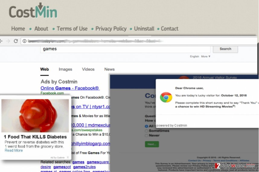 Examples of Costmin ads