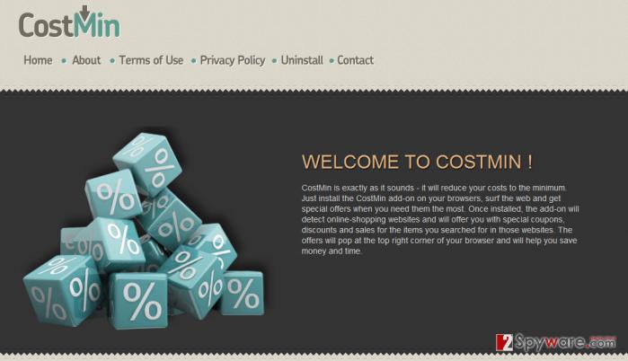 Costmin website