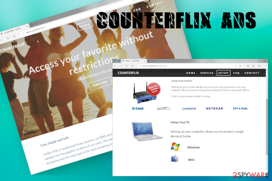Counterflix ad virus