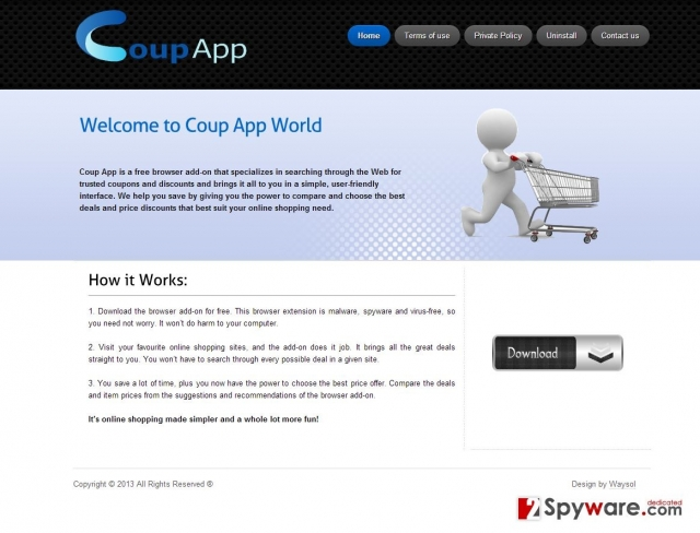 Coup App Ads snapshot